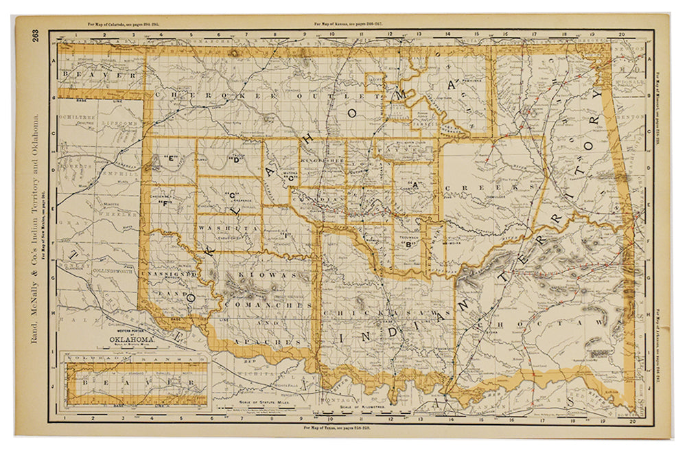Indian Territory (Oklahoma): Rand, McNally & Co. 1892