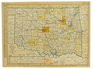 Oklahoma State Map: Rand, McNally & Co. 1953
