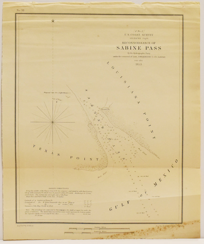 Sabine Pass: Hydrographic Party 1853