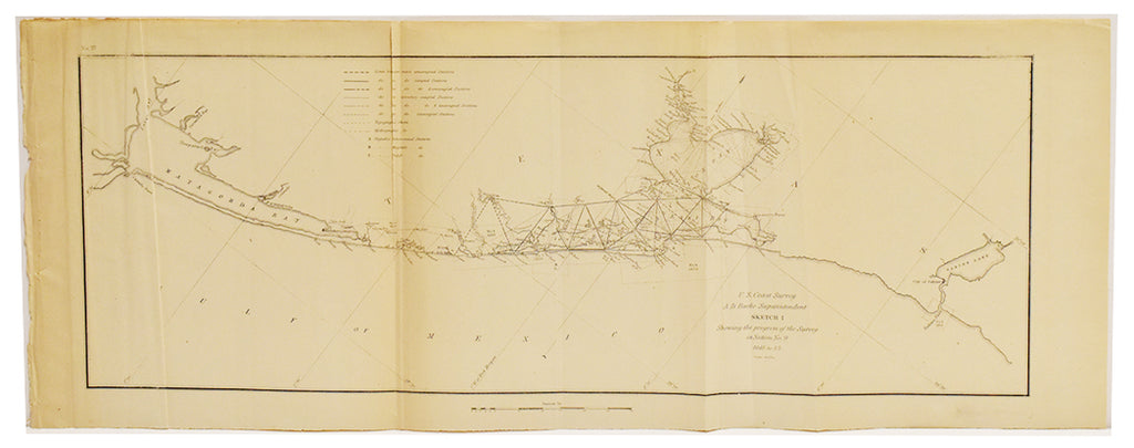 U.S. Cost Survey, Sabine Pass to Matagorda Bay: 1848-1853
