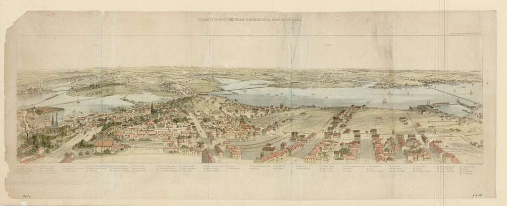 Vicinity of Boston, From Bunker Hill Monument, 1853: Smillie 1856