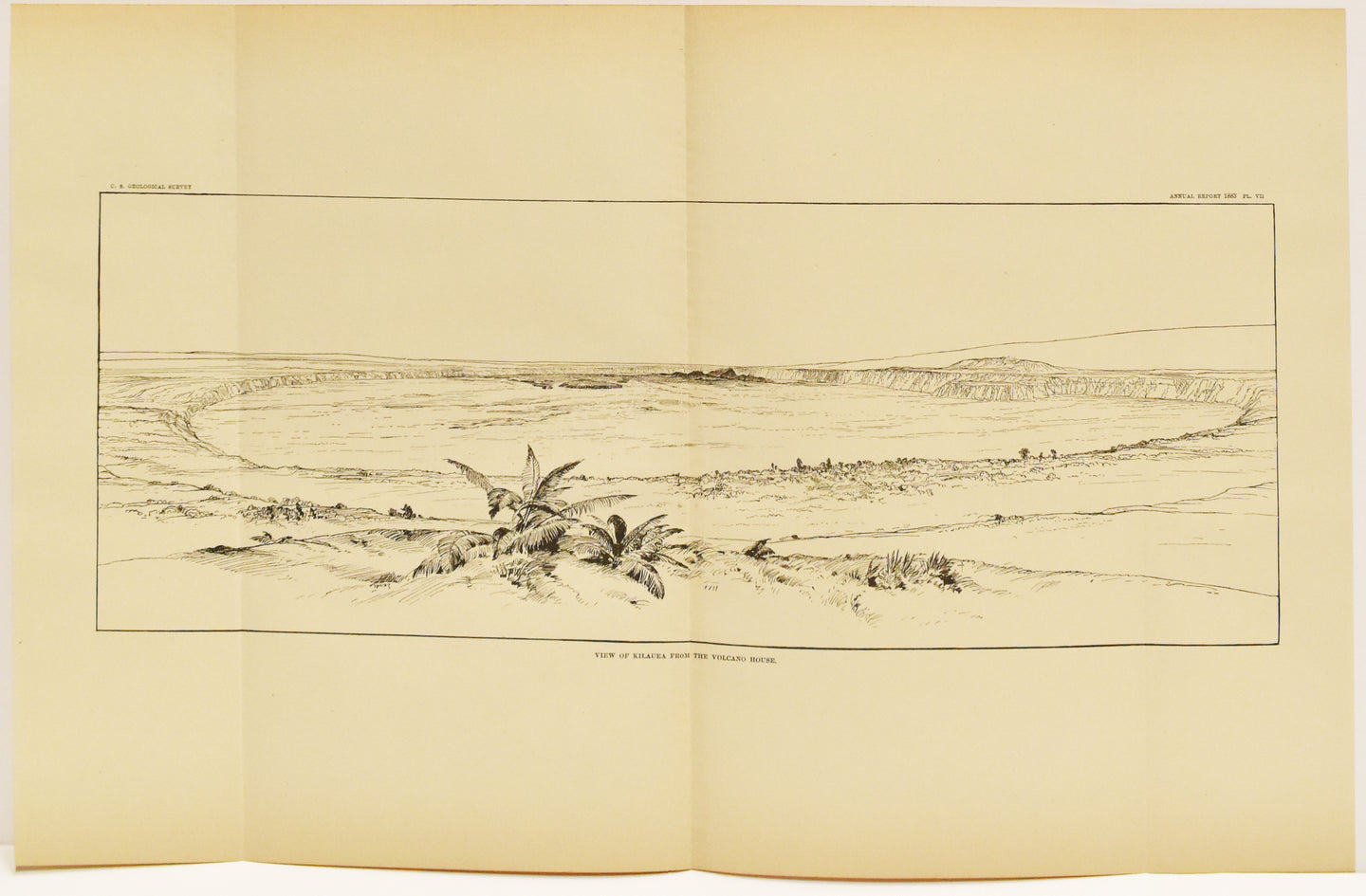 View of Kilauea From The Volcano House: U.S. Geological Survey 1883