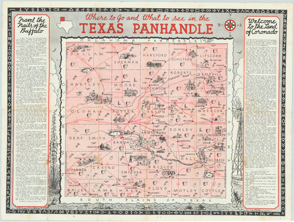 Where to Go and What to See in the Texas Panhandle: c. 1930