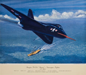 "Douglas F4 D-1 ""Skyray"" Interceptor Fighter: Charles Hubbel 1949-55"