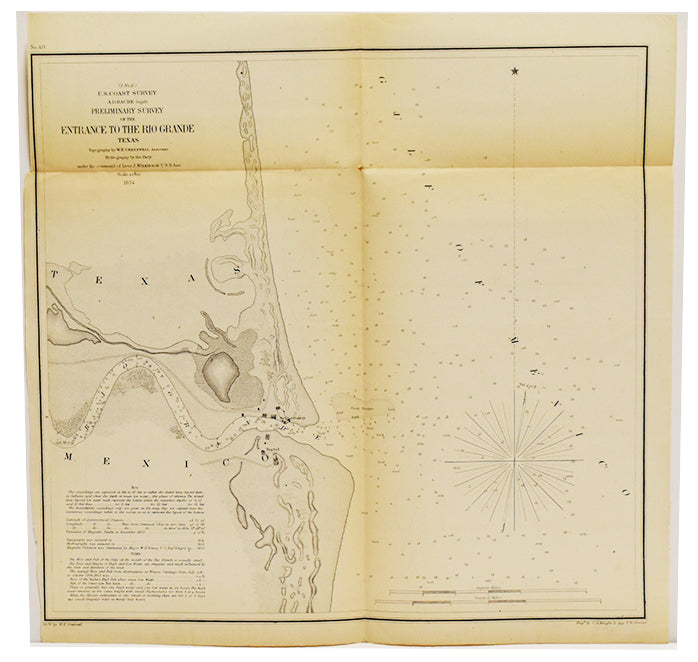 Preliminary Survey of the Entrance to the Rio Grande Texas: Bache 1854