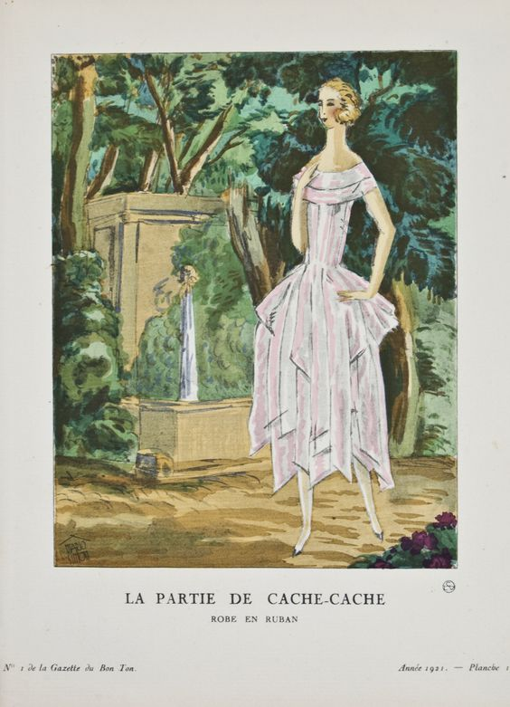 Image from 20th century French fashion magazine