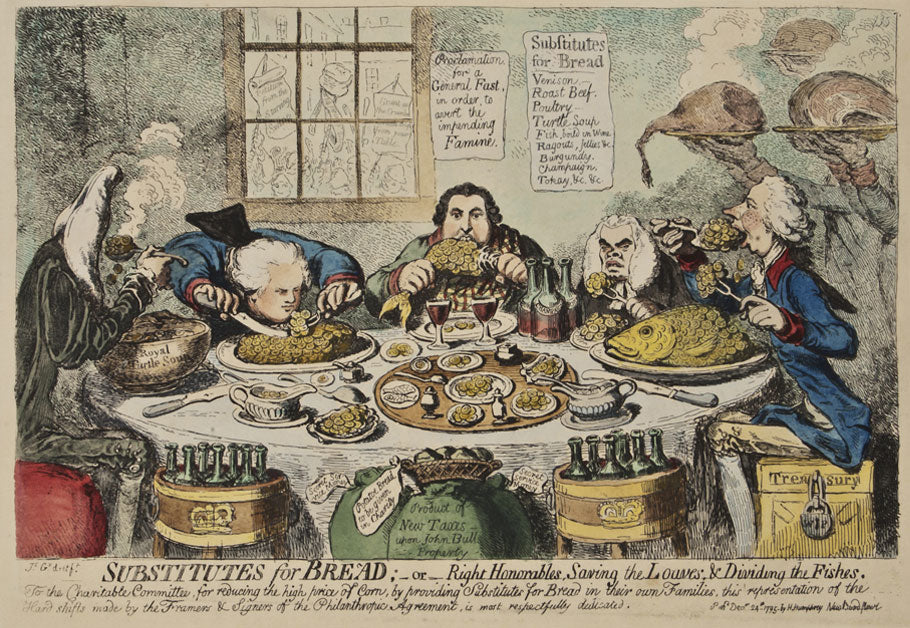 Substitutes For Bread: James Gillray 1851