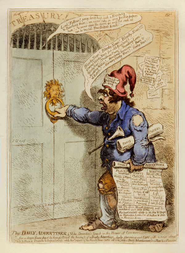 The Daily Advertiser: James Gillray 1851