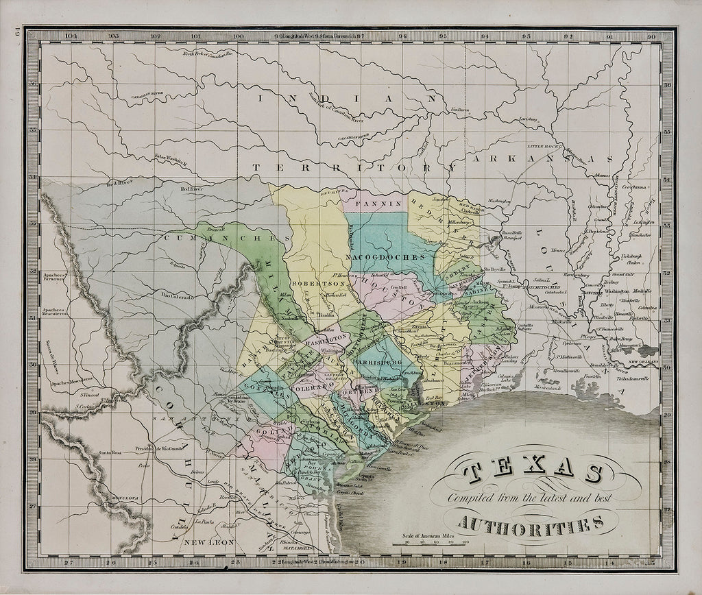 Texas Compiled From The Latest And Best Authorities: Jeremiah Greenleaf 1842