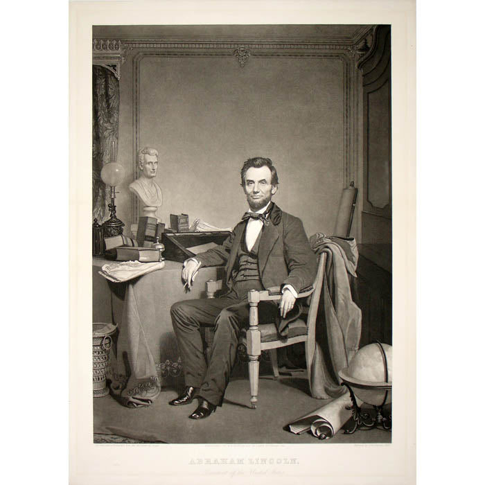 Antique print of President Abraham Lincoln