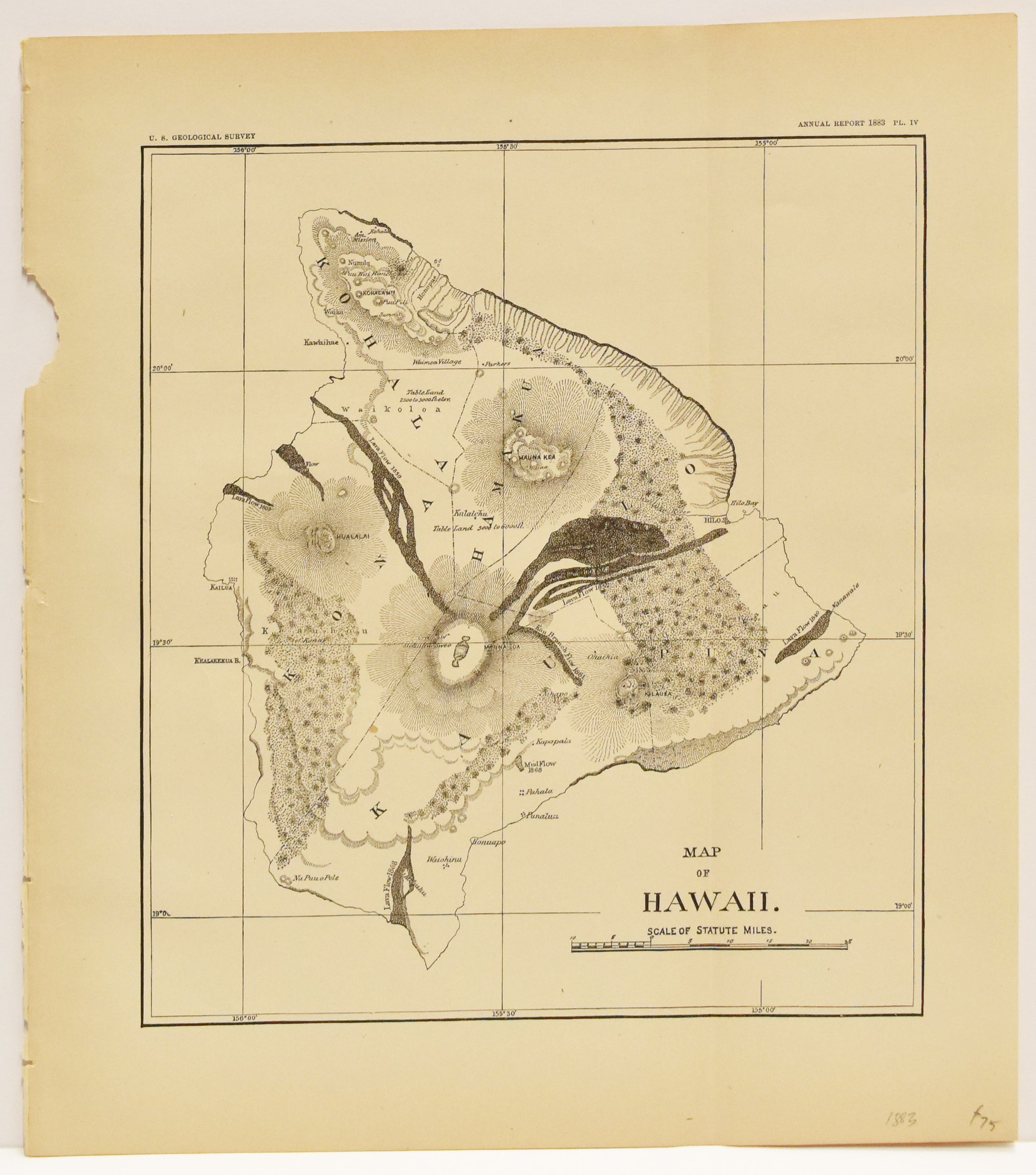 Map of Hawaii: U.S. Geological Survey 1883