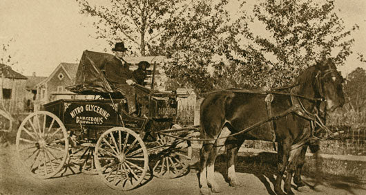 Horse Drawn Nitro Wagon 1905