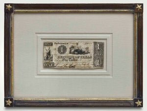 Republic Of Texas Redback In Custom Framing 1841