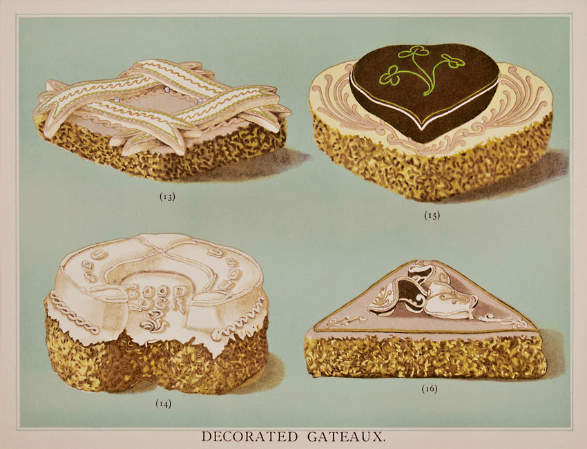 Decorated Gateaux: T. Percy Lewis & A. G. Bromley 1903