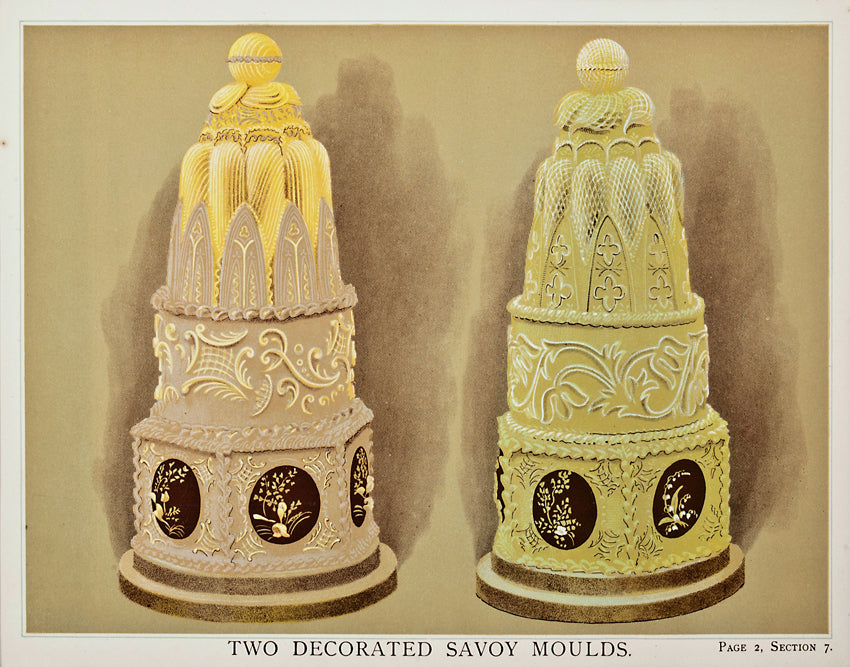 Two Decorated Savoy Moulds: T. Percy Lewis & A. G. Bromley 1903