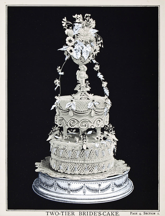 Two-Tier Bride's-Cake: T. Percy Lewis & A. G. Bromley 1903