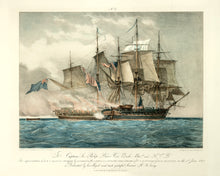 Load image into Gallery viewer, Battle Between The US Frigate Chesapeake And H.M.S. Shannon: Schetky 1830