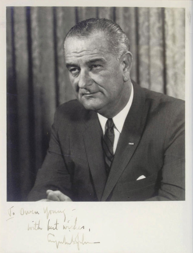 Signed Lyndon Baines Johnson Photgraph 1967
