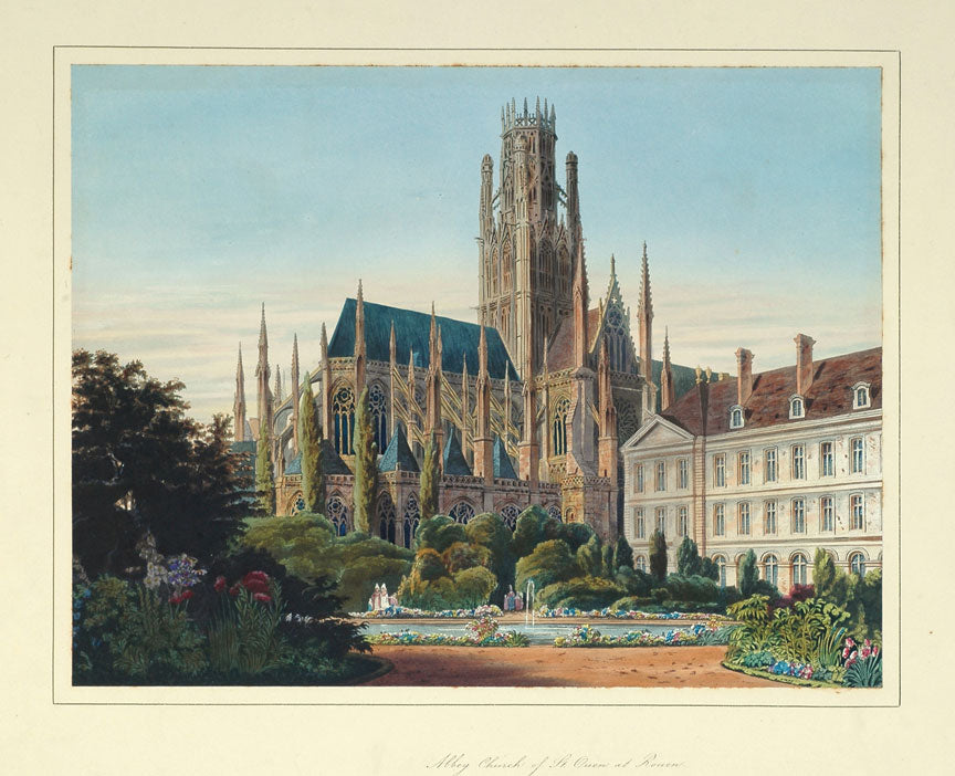 View Of The Abbey Church Of St. Ouen At Rouen: Charles Wild 1826
