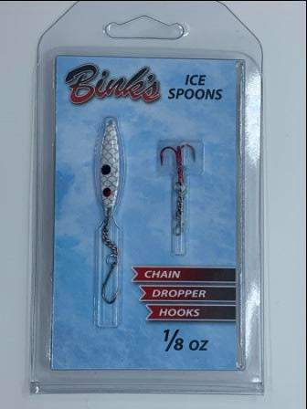 1/8 oz Ice Spoons with Chain Dropper Hooks