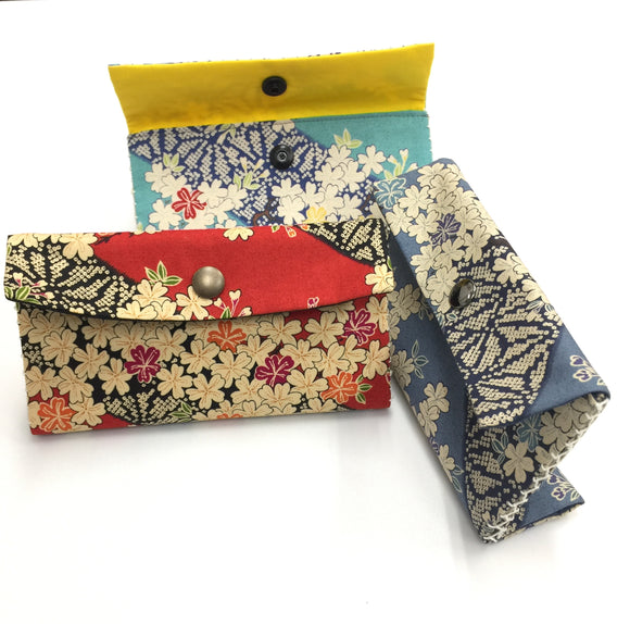 Special Bundle 3 Double Opening Sashiko wallets Valued $72