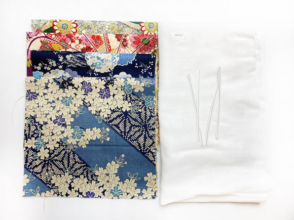 Facemask Bundle B: Make 4 Masks with 4 Kimono-printed Cotton fabrics