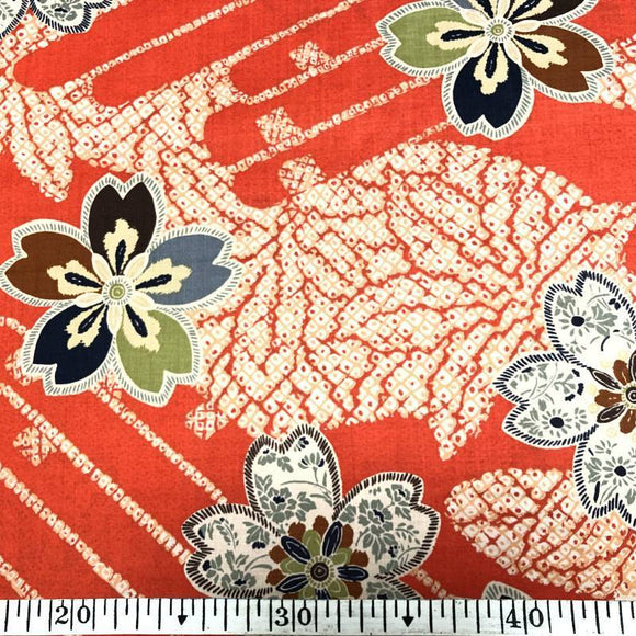 Japanese cotton 50x55cm Red