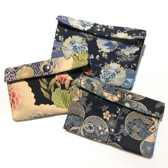 Special Bundle B: 3 Double Opening Sashiko wallets Valued $72