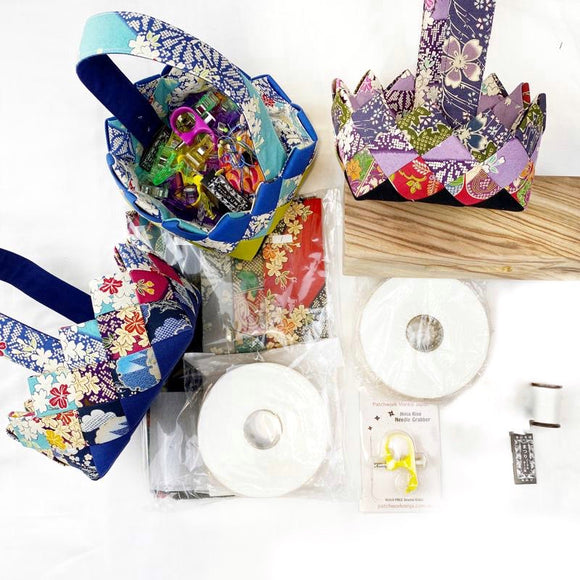Special Bundle: 3 Basket kits, 1 extra fusible buckram tape and all the special notions from Japan Valued $244AUD 40% OFF