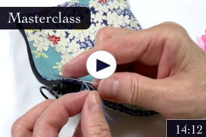 Double Sashiko Wallet with Freestyle Zipper Step-by-step