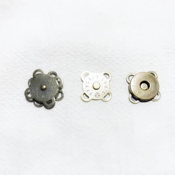 wo Sew-on Strong Magnetic buttons Antique bronze