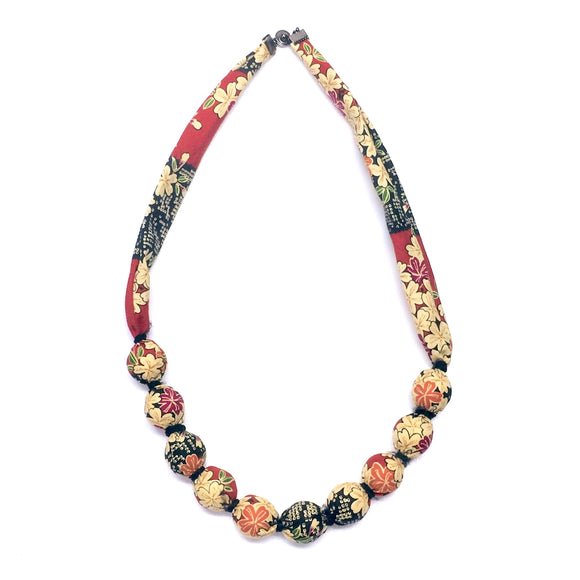 Fabric Tamako Necklace kit with  not knot thread