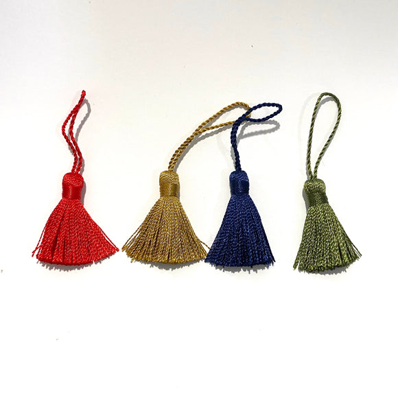 2 Mini Japanese Tassels : 7 Colours