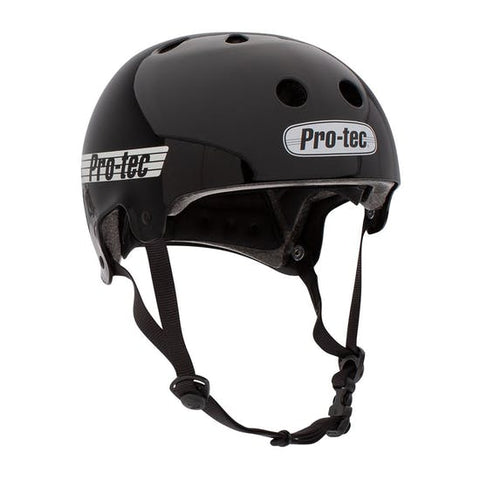 Pro-Tec Old School Chase Hawk Certified Helmet Gloss Black