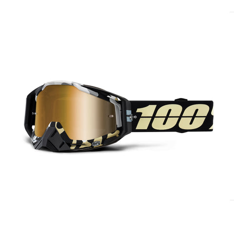 100% Racecraft Goggle Ergoflash - Mirror True Gold