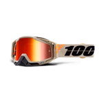 100% Racecraft Goggle Poliet - Mirror Red Lens