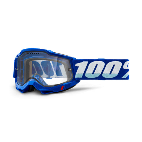 100% Goggle Accuri 2 Enduro Blue - Clear Vented Dual Lens