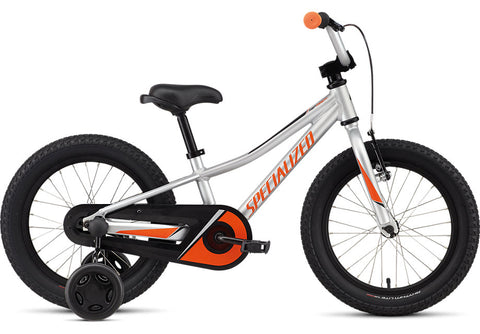 2021 Specialized Riprock Coaster 16 Satin Light Silver/Moto Orange/Black