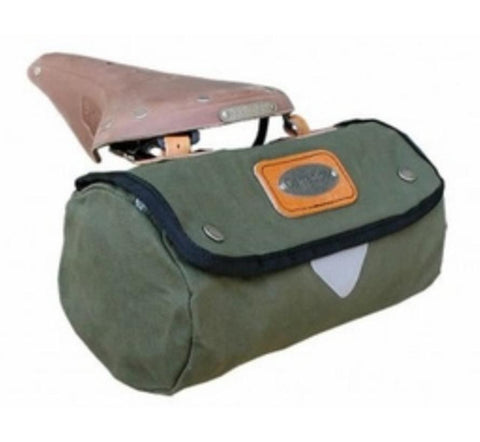 Carradice Zipped Roll Saddle Bag Duck Green 2ltrs