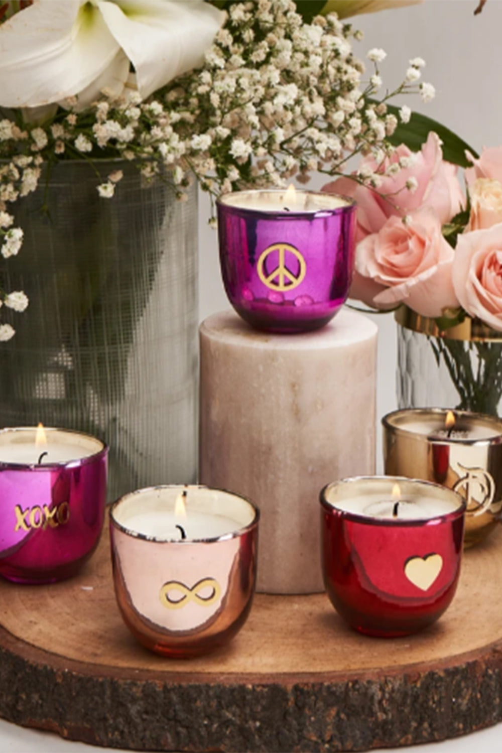 5 Shades of Love | Set of 5 | Scented Candles