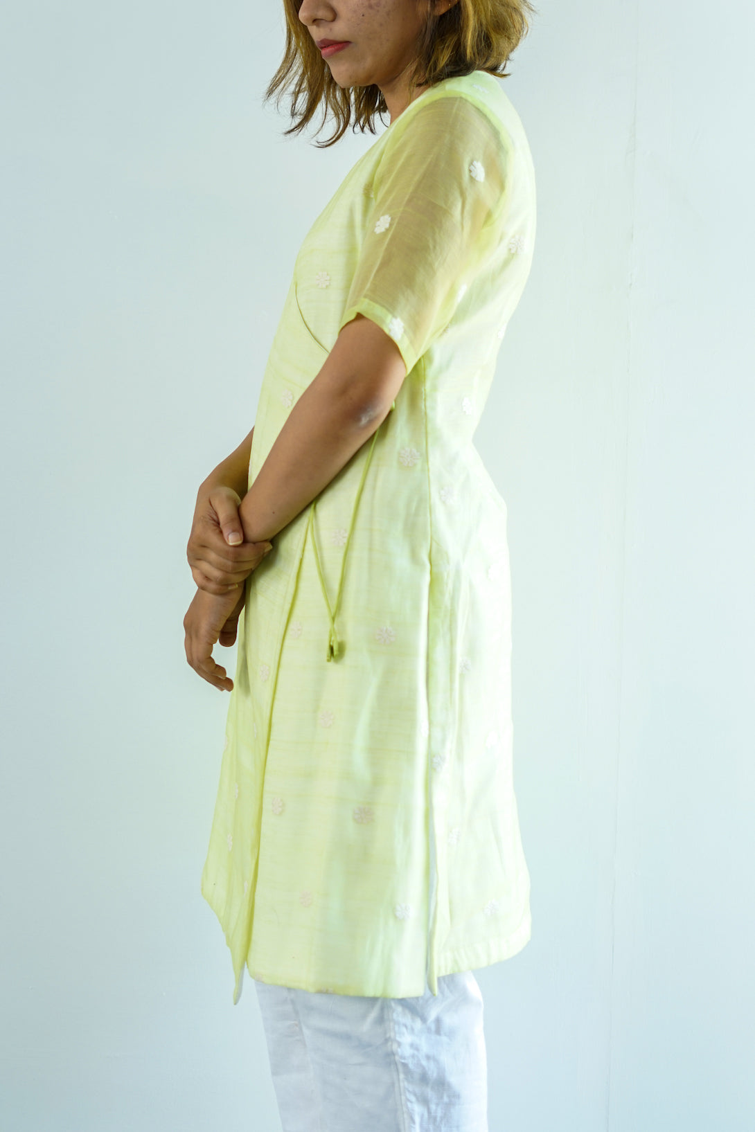 Green Mulberry Wrap Tunic - Go-Native Store