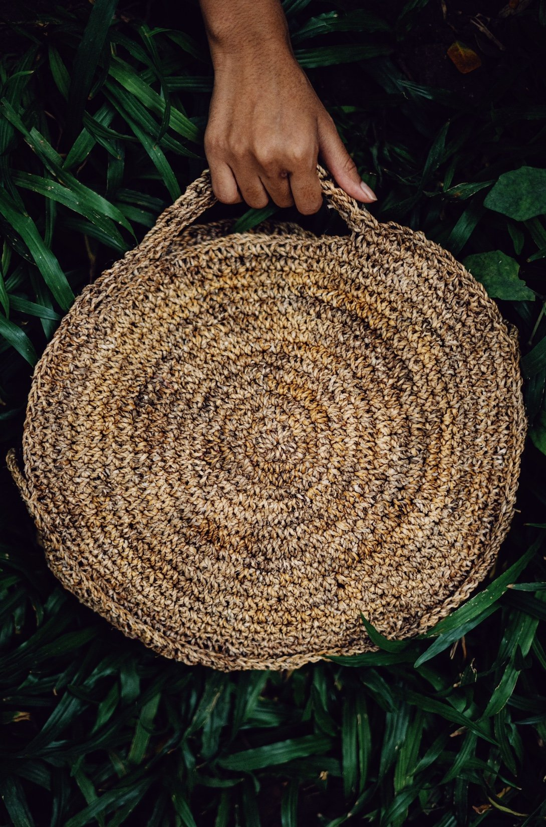 Self handle round bag - Go-Native Store
