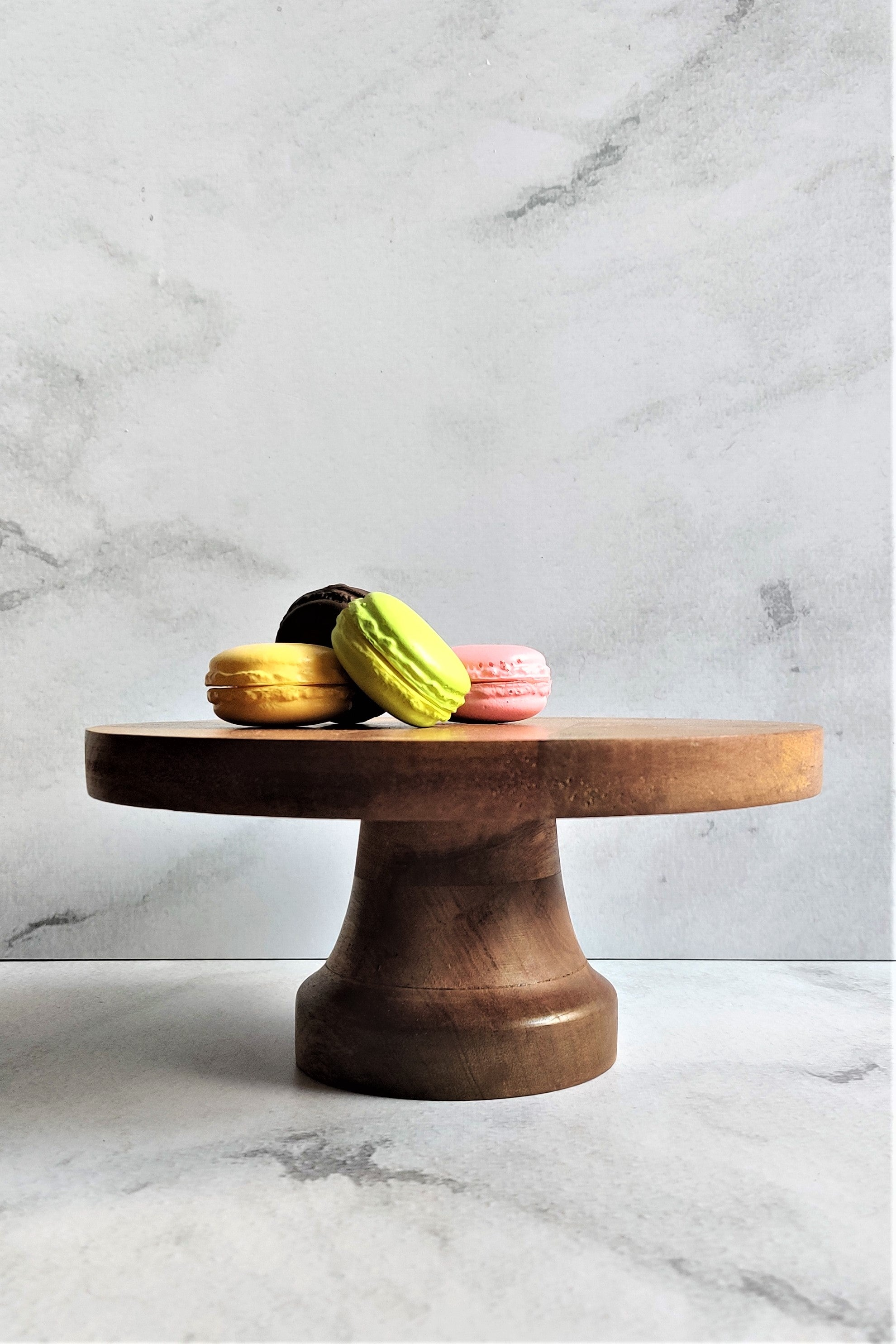 Rustic Wooden Handcrafted Cake Stand - Go-Native Store