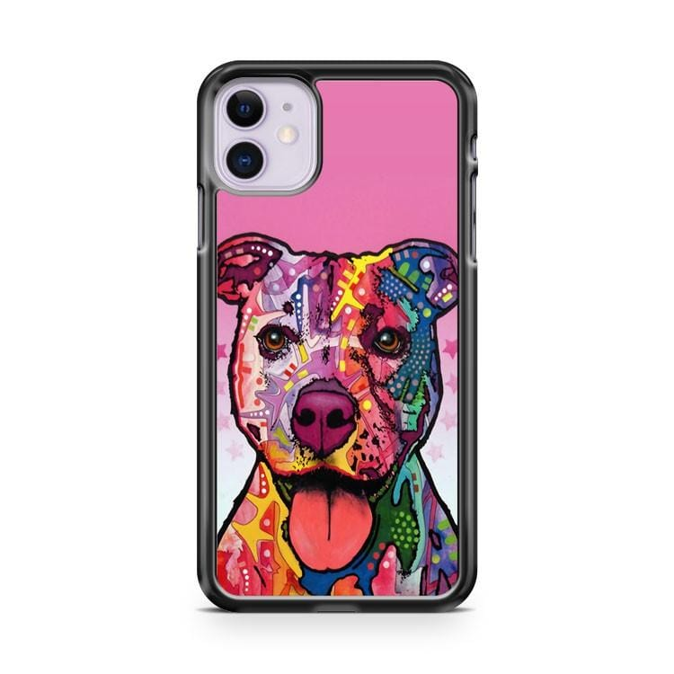Retro Colored Pit Bull iPhone 11 Case Cover
