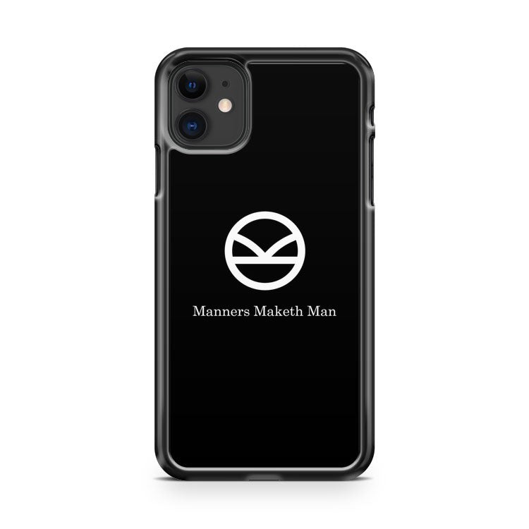 Kingsman Secret Service Manners Maketh Man Black iPhone 11 Case Cover
