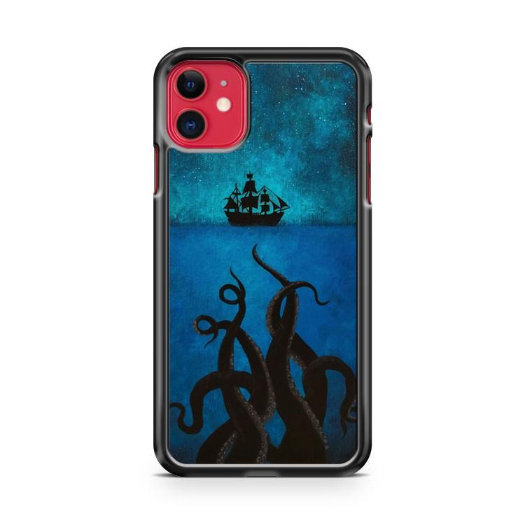 Pirates Of The Caribbean Sea Monster Tentacle Art Pirate iPhone 11 Case Cover