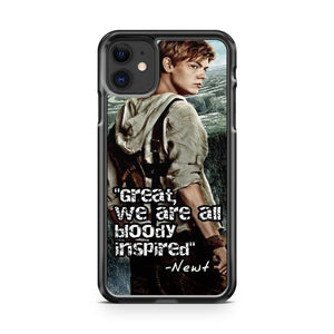 Quote Newt The Maze Runner iPhone 11 Case Cover