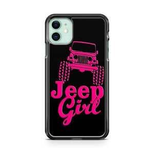 Pink Jeep Girl iPhone 11 Case Cover