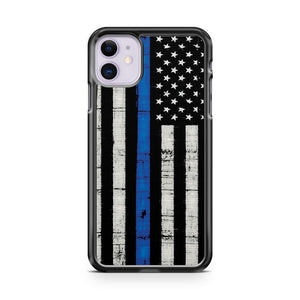 Police Blue Line Flag iPhone 11 Case Cover