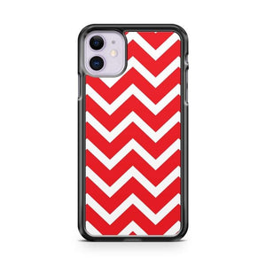 Red And White Christmas Chevron iPhone 11 Case Cover